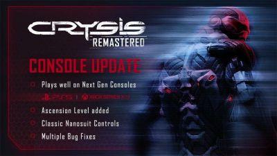 Crysis Remastered se actualiza con mejoras gratuitas para PS5 y Xbox Series X|S