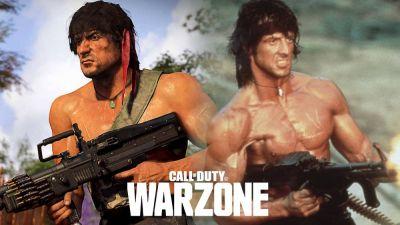 El jugador de Warzone recrea a la perfección la icónica escena de Rambo en un nuevo POI