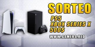 Hemos decidido que el ganador aparte de poder elegir entre consolas ps5 y xbox series x también puede escoger 500 USD.
